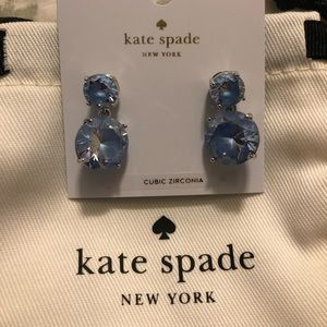 New with tags kate spade blue drop earrings